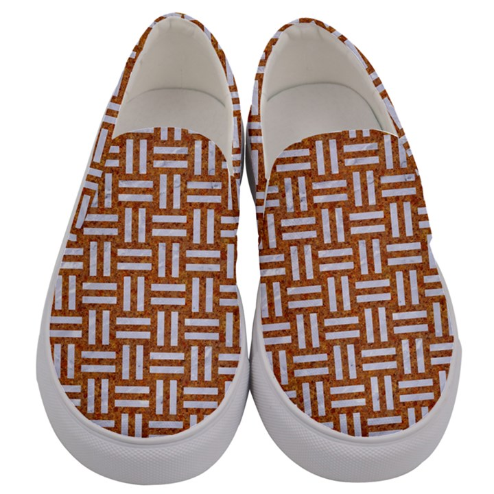 WOVEN1 WHITE MARBLE & RUSTED METAL Men s Canvas Slip Ons