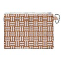 WOVEN1 WHITE MARBLE & RUSTED METAL Canvas Cosmetic Bag (XL) View2