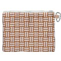WOVEN1 WHITE MARBLE & RUSTED METAL Canvas Cosmetic Bag (XXL) View2