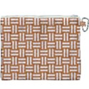 WOVEN1 WHITE MARBLE & RUSTED METAL Canvas Cosmetic Bag (XXXL) View2