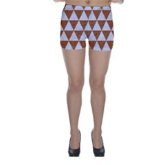 Triangle3 White Marble & Rusted Metal Skinny Shorts