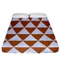 TRIANGLE3 WHITE MARBLE & RUSTED METAL Fitted Sheet (California King Size) View1