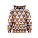 TRIANGLE3 WHITE MARBLE & RUSTED METAL Kids  Pullover Hoodie View1