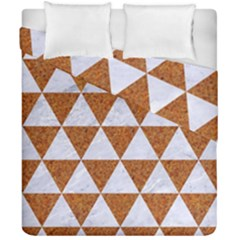 Triangle3 White Marble & Rusted Metal Duvet Cover Double Side (california King Size) by trendistuff