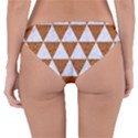 TRIANGLE3 WHITE MARBLE & RUSTED METAL Reversible Hipster Bikini Bottoms View4