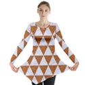 TRIANGLE3 WHITE MARBLE & RUSTED METAL Long Sleeve Tunic  View1