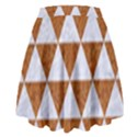 TRIANGLE3 WHITE MARBLE & RUSTED METAL High Waist Skirt View2