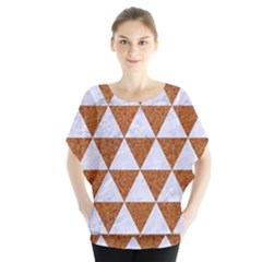 Triangle3 White Marble & Rusted Metal Blouse