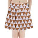 TRIANGLE3 WHITE MARBLE & RUSTED METAL Pleated Mini Skirt View1