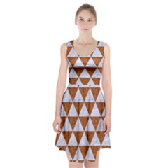 Triangle3 White Marble & Rusted Metal Racerback Midi Dress
