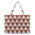 TRIANGLE3 WHITE MARBLE & RUSTED METAL Medium Tote Bag View1