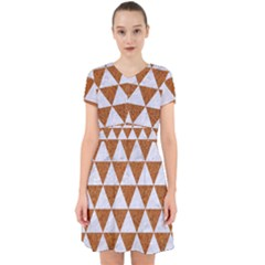 Triangle3 White Marble & Rusted Metal Adorable In Chiffon Dress