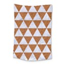 TRIANGLE3 WHITE MARBLE & RUSTED METAL Small Tapestry View1