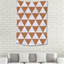 TRIANGLE3 WHITE MARBLE & RUSTED METAL Small Tapestry View2