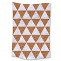 TRIANGLE3 WHITE MARBLE & RUSTED METAL Large Tapestry View1
