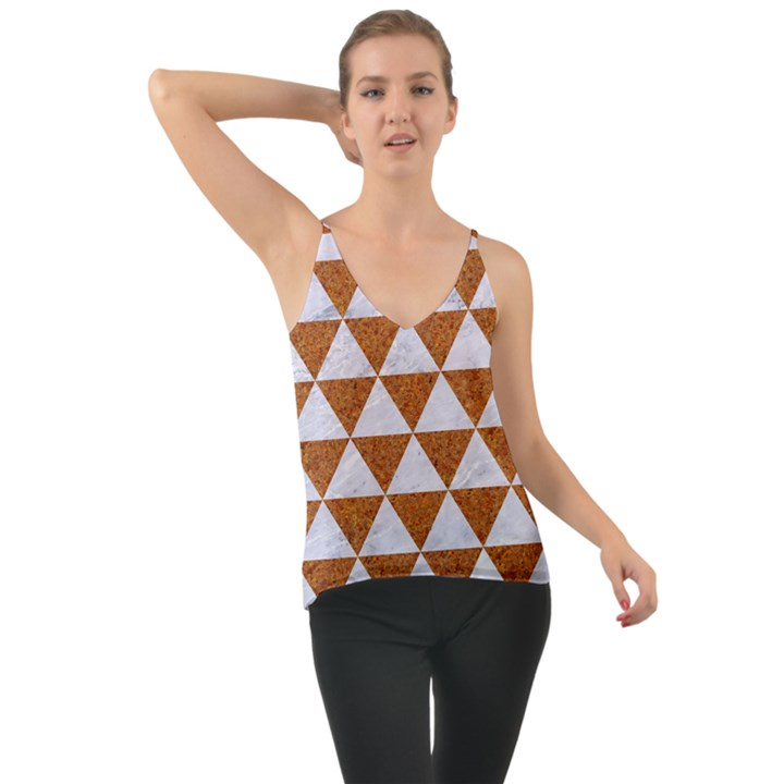 TRIANGLE3 WHITE MARBLE & RUSTED METAL Cami