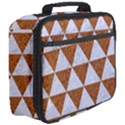TRIANGLE3 WHITE MARBLE & RUSTED METAL Full Print Lunch Bag View3