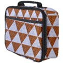 TRIANGLE3 WHITE MARBLE & RUSTED METAL Full Print Lunch Bag View4