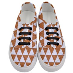 Triangle3 White Marble & Rusted Metal Women s Classic Low Top Sneakers