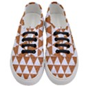 TRIANGLE3 WHITE MARBLE & RUSTED METAL Women s Classic Low Top Sneakers View1