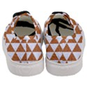 TRIANGLE3 WHITE MARBLE & RUSTED METAL Women s Classic Low Top Sneakers View4