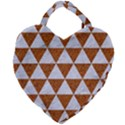 TRIANGLE3 WHITE MARBLE & RUSTED METAL Giant Heart Shaped Tote View2
