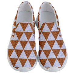 Triangle3 White Marble & Rusted Metal Men s Lightweight Slip Ons