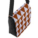 TRIANGLE2 WHITE MARBLE & RUSTED METAL Flap Messenger Bag (S) View2