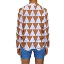 TRIANGLE2 WHITE MARBLE & RUSTED METAL Kids  Long Sleeve Swimwear View2