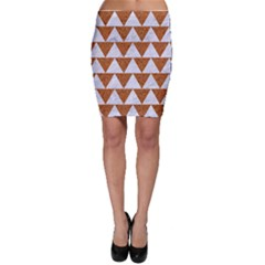 TRIANGLE2 WHITE MARBLE & RUSTED METAL Bodycon Skirt