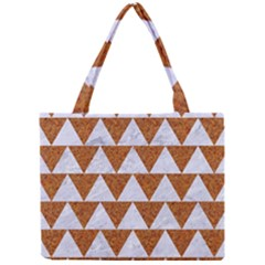 Triangle2 White Marble & Rusted Metal Mini Tote Bag by trendistuff