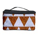 TRIANGLE2 WHITE MARBLE & RUSTED METAL Cosmetic Storage Case View1