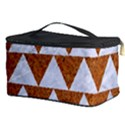 TRIANGLE2 WHITE MARBLE & RUSTED METAL Cosmetic Storage Case View3