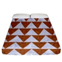 TRIANGLE2 WHITE MARBLE & RUSTED METAL Fitted Sheet (California King Size) View1