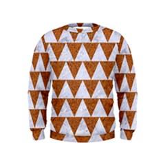 TRIANGLE2 WHITE MARBLE & RUSTED METAL Kids  Sweatshirt