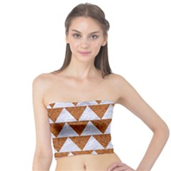 TRIANGLE2 WHITE MARBLE & RUSTED METAL Tube Top