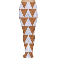 TRIANGLE2 WHITE MARBLE & RUSTED METAL Women s Tights