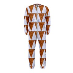 TRIANGLE2 WHITE MARBLE & RUSTED METAL OnePiece Jumpsuit (Kids)