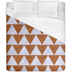 Triangle2 White Marble & Rusted Metal Duvet Cover (california King Size)