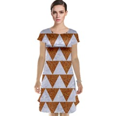 TRIANGLE2 WHITE MARBLE & RUSTED METAL Cap Sleeve Nightdress