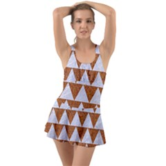 TRIANGLE2 WHITE MARBLE & RUSTED METAL Swimsuit
