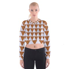 TRIANGLE2 WHITE MARBLE & RUSTED METAL Cropped Sweatshirt
