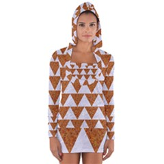 TRIANGLE2 WHITE MARBLE & RUSTED METAL Long Sleeve Hooded T-shirt