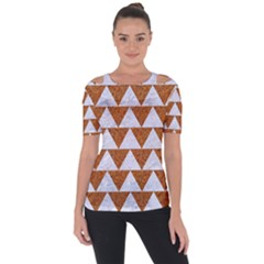 TRIANGLE2 WHITE MARBLE & RUSTED METAL Short Sleeve Top