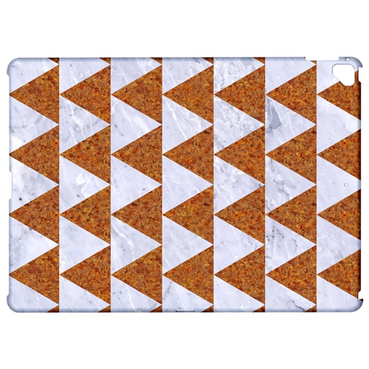 TRIANGLE2 WHITE MARBLE & RUSTED METAL Apple iPad Pro 12.9   Hardshell Case