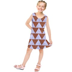 TRIANGLE2 WHITE MARBLE & RUSTED METAL Kids  Tunic Dress