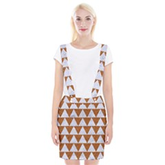 TRIANGLE2 WHITE MARBLE & RUSTED METAL Braces Suspender Skirt