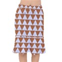 TRIANGLE2 WHITE MARBLE & RUSTED METAL Mermaid Skirt View1