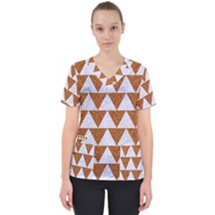 Triangle2 White Marble & Rusted Metal Scrub Top