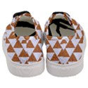 TRIANGLE2 WHITE MARBLE & RUSTED METAL Women s Classic Low Top Sneakers View4